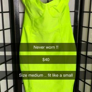 Neon Bodycon Dress
